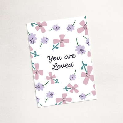 You are Loved (Petals) - Mini Card (Cards)