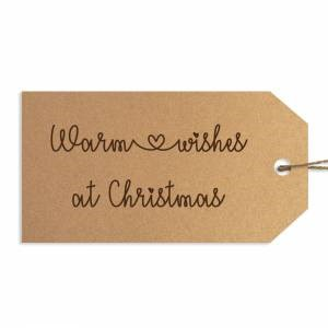 Warm Wishes at Christmas Gift Tags (General Merchandise)