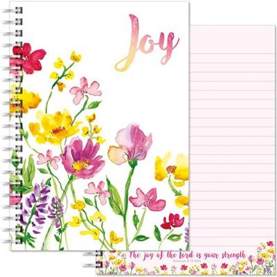 Joy Flowers A5 Notebook (Paperback)