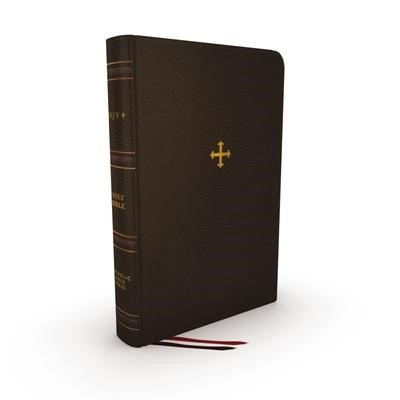 NRSV Catholic Bible Thinline Edition, Brown, Indexed (Genuine Leather)