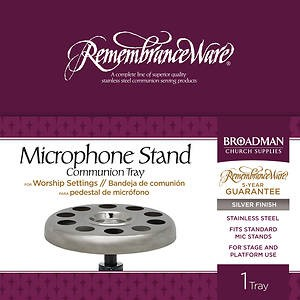Silver Mic Stand Communion Tray (General Merchandise)