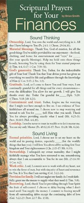 Scriptural Prayers For Your Finances 50-Pack (Multiple Copy Pack)