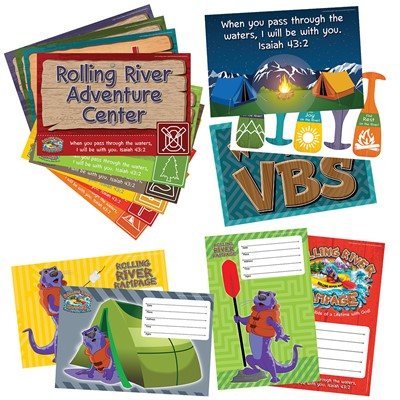 VBS 2018 Rolling River Rampage Activity Center Signs (Pack)
