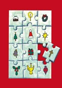 Pack of 6 (with envelopes) - Christmas Jigsaw (Cards)