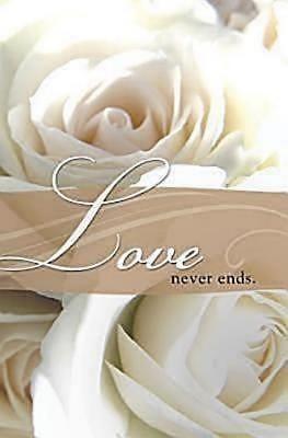 Love Never Ends Wedding Bulletin (Pkg of 50) (Bulletin)