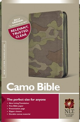 NLT Compact Camo Bible Green Canvas Zip (Other Book Format)