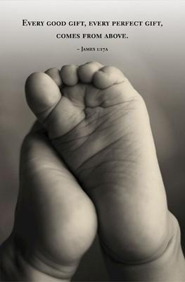 Tiny Feet Scripture Series Bulletin (Pkg of 50) (Loose-leaf)