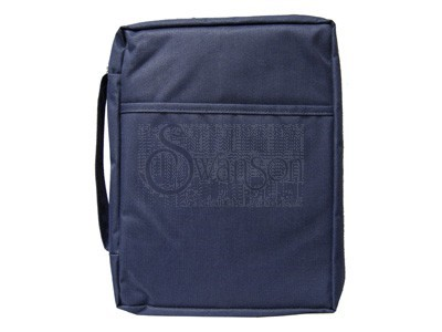 Bible Cover Plain Navy Sm