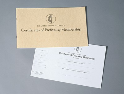 The United Methodist Church Certificates of Professing Membe (Loose-leaf)