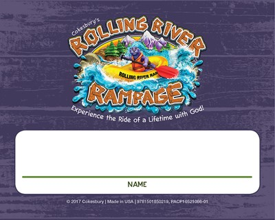 VBS 2018 Rolling River Rampage Nametag Cards (Miscellaneous Print)