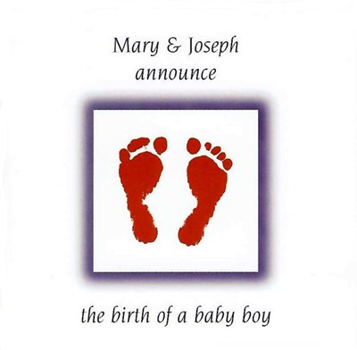Pack Of 6 (With Envelopes) - Birth Announcement (Pamphlet)