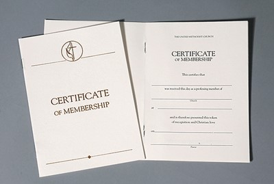 United Methodist Certificates of Membership Without Service (Certificate)