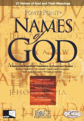 Names Of God PowerPoint CD-Rom (CD-Rom)