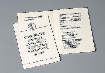 United Methodist Covenant III Baptism, Confirmation & Recept (Certificate)