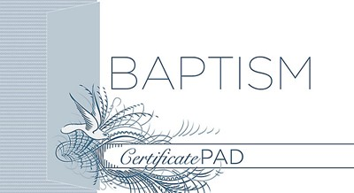 Baptism Certificate Pad (Pack of 6)