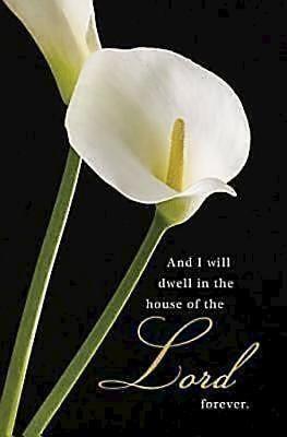 Calla Lilies Funeral Bulletin (Pkg of 50) (Bulletin)