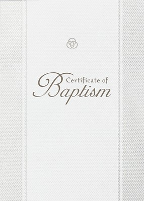 Baptism Parchment Paper Folded Certificate (Pack of 6)