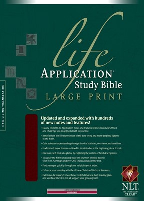 NLT Life Application Study Bible Large Print, Indexed (Bonded Leather)