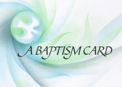 Baptismal Card Dove (pack of 20) (Cards)