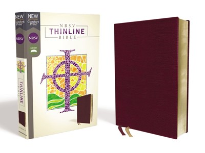 NRSV Thinline Bible, Burgundy Bonded Leather, Comfort Print (Bonded Leather)