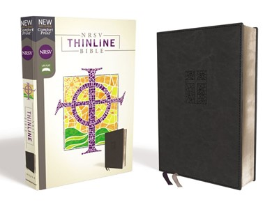 NRSV Thinline Bible, Black, Comfort Print (Imitation Leather)