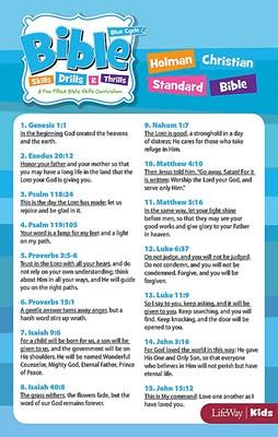 Bible Skills, Drills, & Thrills: Blue Cycle - HCSB Verse Car (Cards)