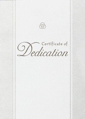 Dedication Parchment Paper Folded Certificate (Pack of 6)