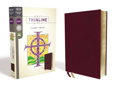 NRSV Thinline Bible, Burgundy Bonded Leather, Large Print (Bonded Leather)