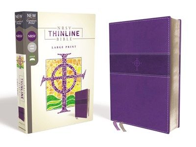 NRSV Thinline Bible, Purple, Large Print (Imitation Leather)