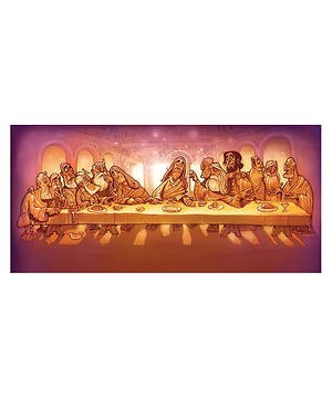 Walk With Jesus Last Supper Backdrop (Other Merchandise)
