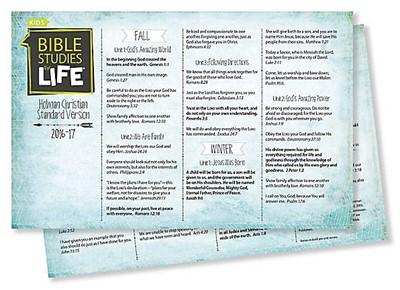 Bible Studies For Life: Kids Verse Cards for 2016-2017 - KJV (Cards)
