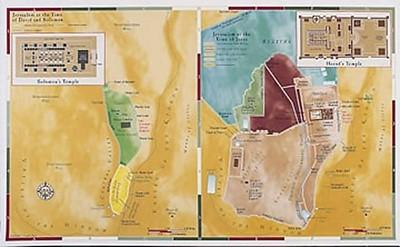 Abingdon Bible Land Map--Jerusalem, Old Testament/New Testam (Miscellaneous Print)