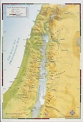 Abingdon Bible Land Map--Israel's Settlement in Canaan (Miscellaneous Print)