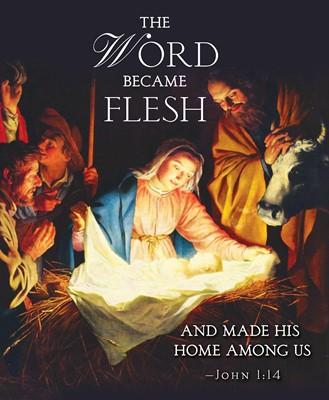 The Word Nativity Christmas Bulletin, Large (Pkg of 50) (Loose-leaf)
