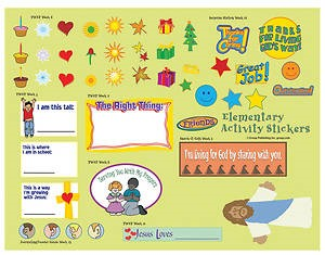 FaithWeaver Friends Elementary Activity Stickers Spring 2017 (Stickers)