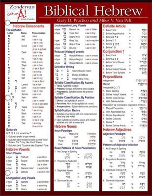 Biblical Hebrew Laminated Sheet (Other Book Format)