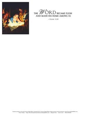 The Word Nativity Christmas Letterhead (Pkg of 50) (Loose-leaf)