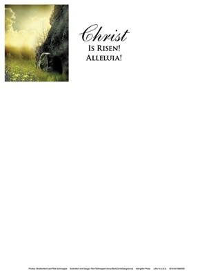 Christ Sunrise Easter Letterhead (Pkg of 50) (Loose-leaf)