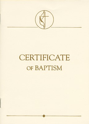 United Methodist Covenant I Youth & Adult Baptism Certificat (Miscellaneous Print)