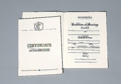 United Methodist Marriage Certificates with Traditional 1964 (Miscellaneous Print)