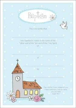 Baptism Certificate (Pack of 10) (Certificate)