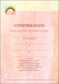 Confirmation Certificate (Pack of 10) (Certificate)