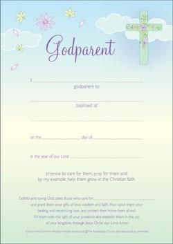 Godparent Certificate (Pack of 10) (Certificate)