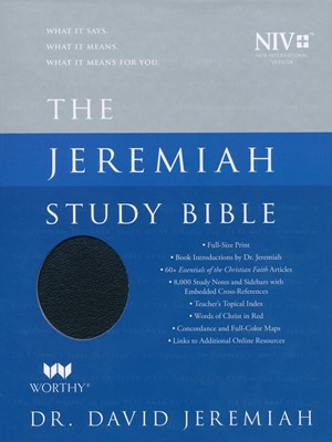 NIV Jeremiah Study Bible, Black Genuine Leather, Indexed