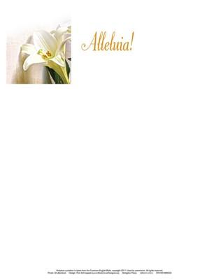 Alleluia! Easter Lilies Letterhead (Pkg of 50) (Loose-leaf)
