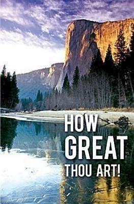 How Great Thou Art Hymn Bulletin (Pkg of 50) (Bulletin)