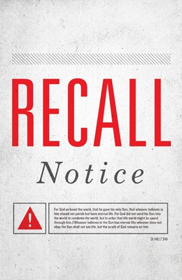 Recall Notice (Pack Of 25) (Tracts)