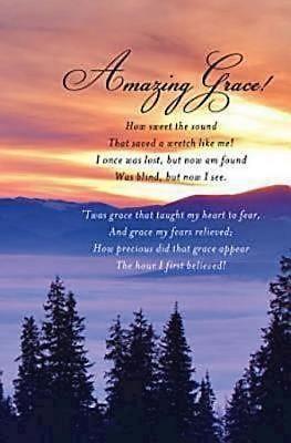 Amazing Grace Hymn Bulletin (Pkg of 50) (Bulletin)