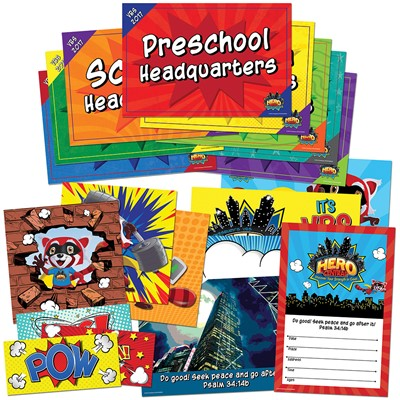 VBS Hero Central Activity Center Signs & Publicity Pack (Pack)