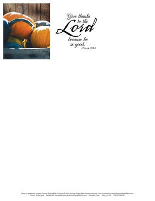 Give Thanks Thanksgiving Letterhead (Pkg of 50) (Loose-leaf)